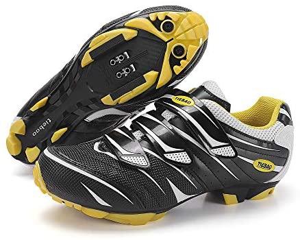 MiFeloo Men Women Outdoor MTB Mountain Bike Cycling Shoes Compatible with 2-Bolt Cleats