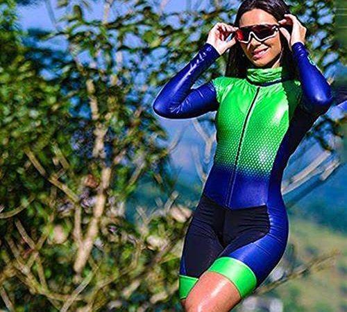 Fietsen pak lange mouwen riding panty fiets rijden triatlon kleding panty (Color : 2, Size : Small)