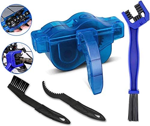 BTkviseQat Fahrrad Kettenreinigungsgerät Fahrradkettenreiniger Reinigung Scrubber Pinsel-Werkzeug im Set fürFahrradketten – Ketten Reinigung Gerät Reiniger Reinigungsgerät