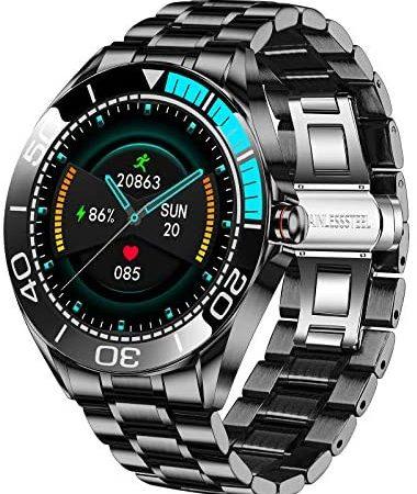 Smartwatch da Uomo LIGE, IP67 Impermeabile Fitness Tracker Orologi Frequenza Cardiaca Ossigeno Nel Sangue Monitor Della Pressione Sanguigna Touch Screen Completo Sport Orologio Intelligente