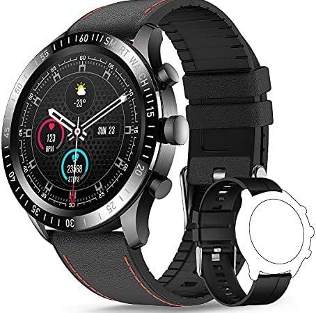 TagoBee Smartwatch Hombre,Reloj Inteligente Hombre Mujer con 1.3″ Táctil Completa, Pulsómetro Presión Arterial Monitor de Sueño IP67 Impermeable Podómetro Relojes Inteligentes Hombre para Android iOS