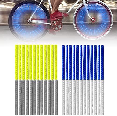 Komake Radfahren Speichenreflektoren,96 Stücks Speichenreflektoren Fahrrad Kinder, Speichensticks Fahrrad Reflektoren, Fahrradspeichen Reflektor, Fahrrad Reflektore Reflektierende Warnstreifen