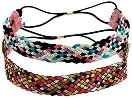 KESYOO 2 stuks elastische hoofdband yoga sport hoofdband operator gezichtsbescherming met knoop make-up haarband hoofddeksel outdoor bandana fietsen tulband hoofddoek