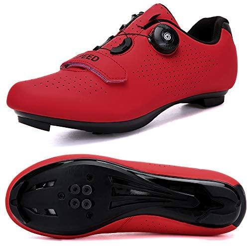 Rod Luke Fietsschoenen voor heren, racefietsschoenen, compatibel met Cleat SPD/SPD-SL en MTB-fietsschoenen