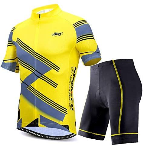 sponeed Cycling Jersey Short Sleeve Men MTB Bike Clothing Road Bicycle Shorts Padded