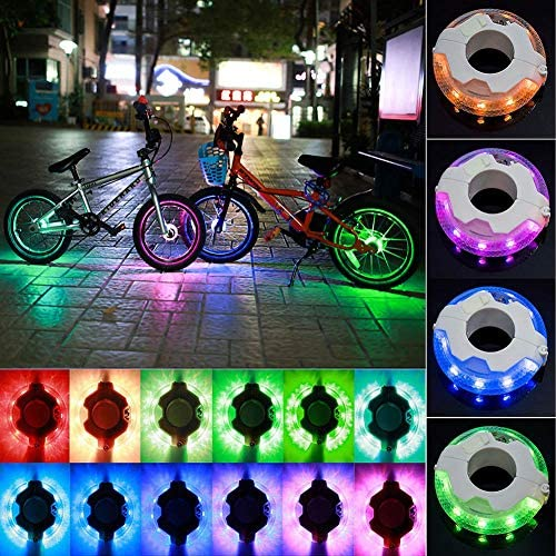 Bike Wheel Lights Led Kids Balance Bicycle Tire Hub Accessories Best Toy Gift for Boys Girls Teen 2 3 4 5 6 7 8 9 10 11 12 Year Old Birthday Holiday