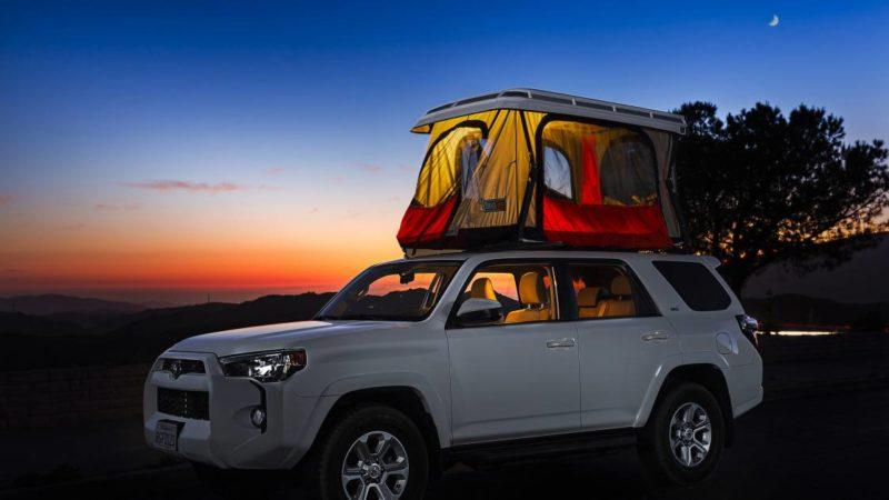 Upstart 'Badass' Rooftop Tent's Build Category's Lightest, Thinnest Hardshell