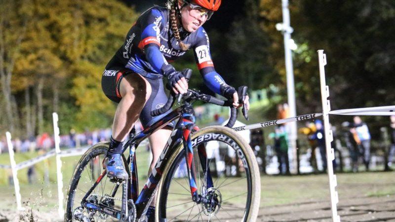 Shirin van Anrooij wins night race for elite women at C1 Jingle Cross