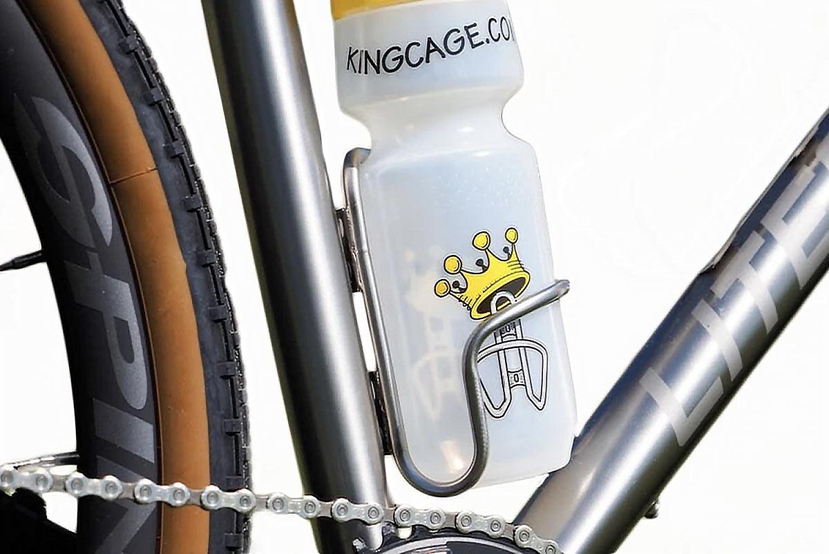 King Cage Side Loader titanium bottle cage lets you grab left, right, or center